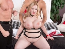 A Breasty Anal Slave For 2 Men